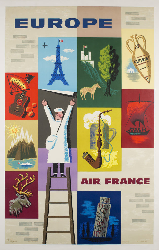 Air France Europe 1959 Poster