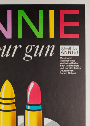 Annie Get Your Gun 1978 East German Theatre Poster