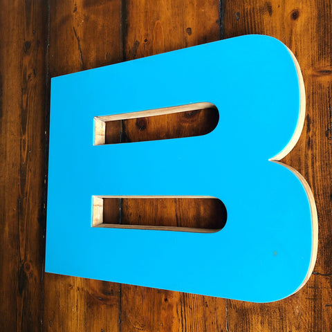 B - Large Factory Shop Letter Ply and Wood