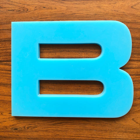 B - Large Letter Solid Perspex