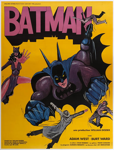 Batman R1970s French Grande Film Poster