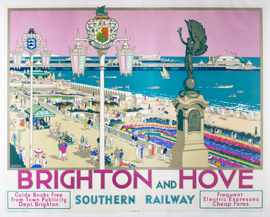 Brighton & Hove Travel Poster, 1938