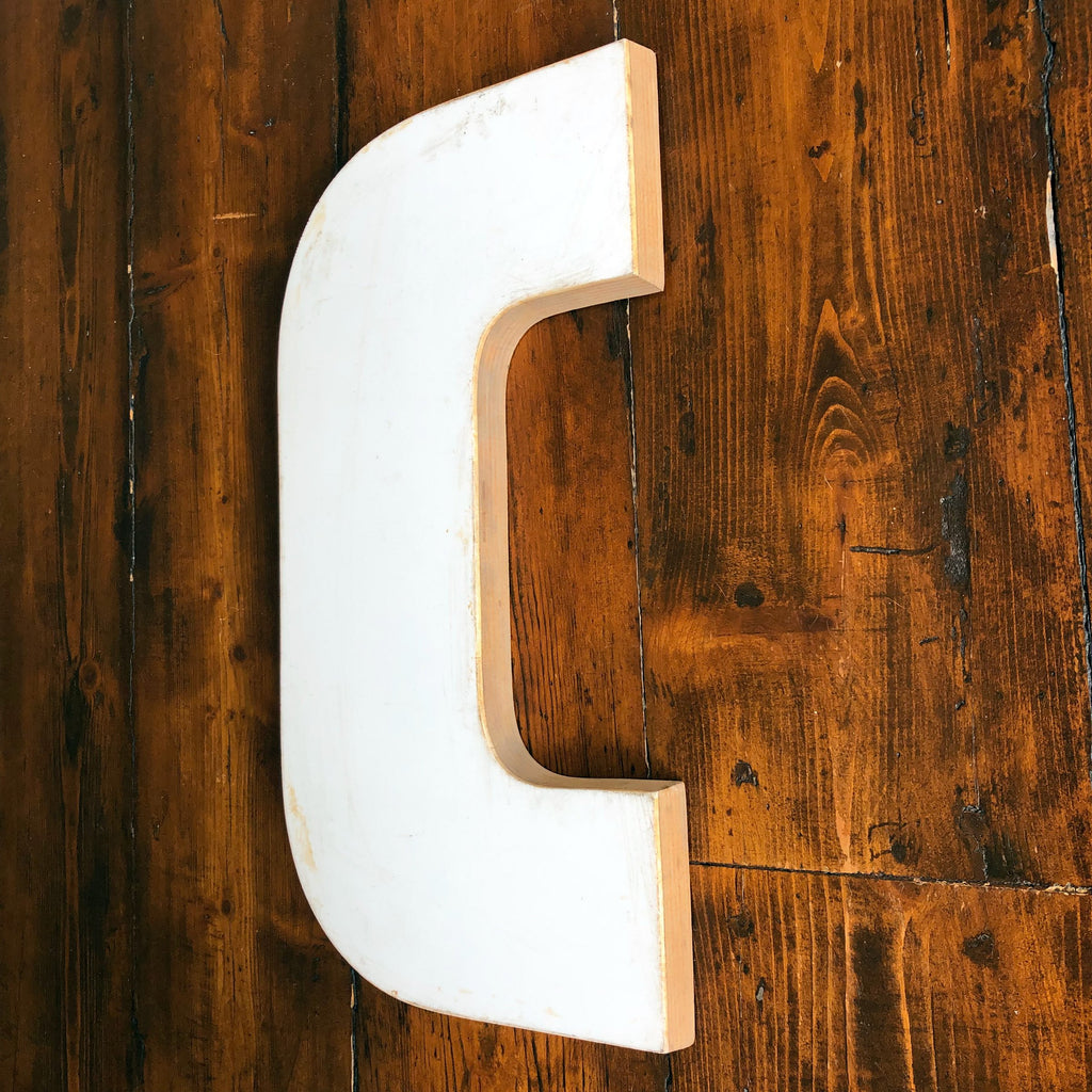 C - Large Factory Shop Letter Ply and Wood