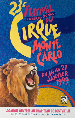 French Cirque Poster -  Monte Carlo 1999