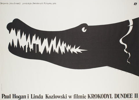 Crocodile Dundee 2 Polish 1989 Film Poster