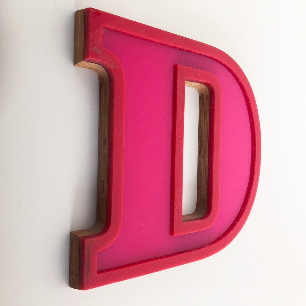 D - Medium Factory Shop Letter Ply Wood & Perspex