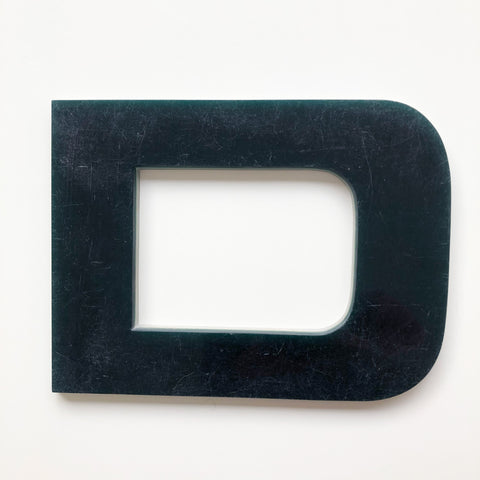 D - Large Letter Solid Perspex
