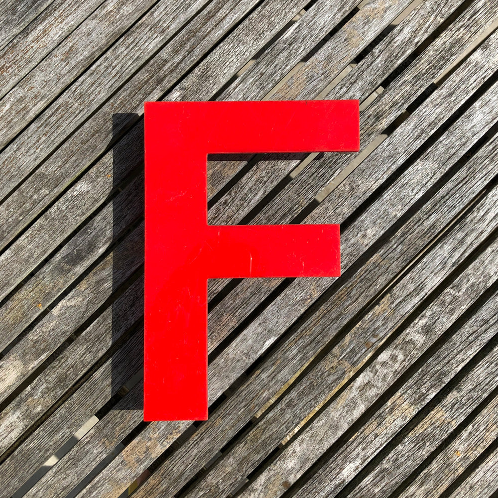 F - Medium Red Cinema Letter Type1