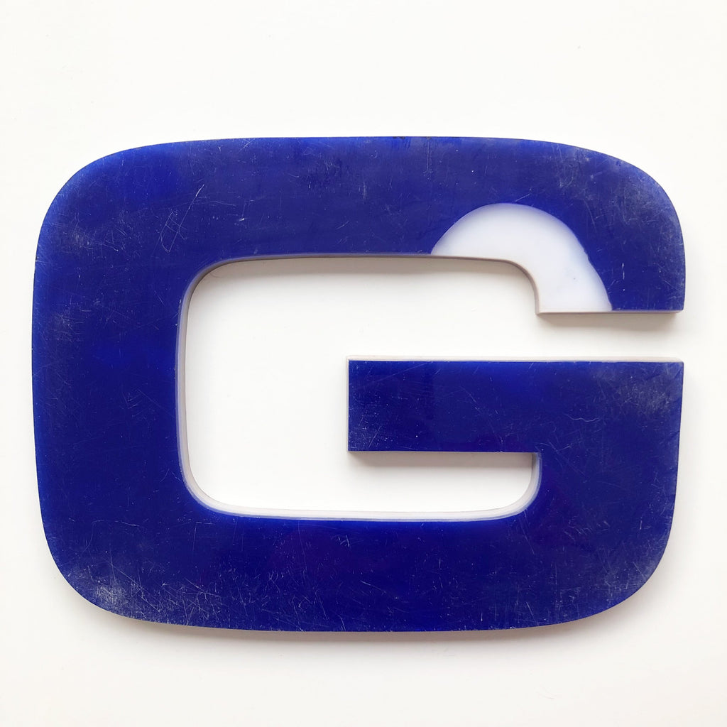G - Large Letter Solid Perspex