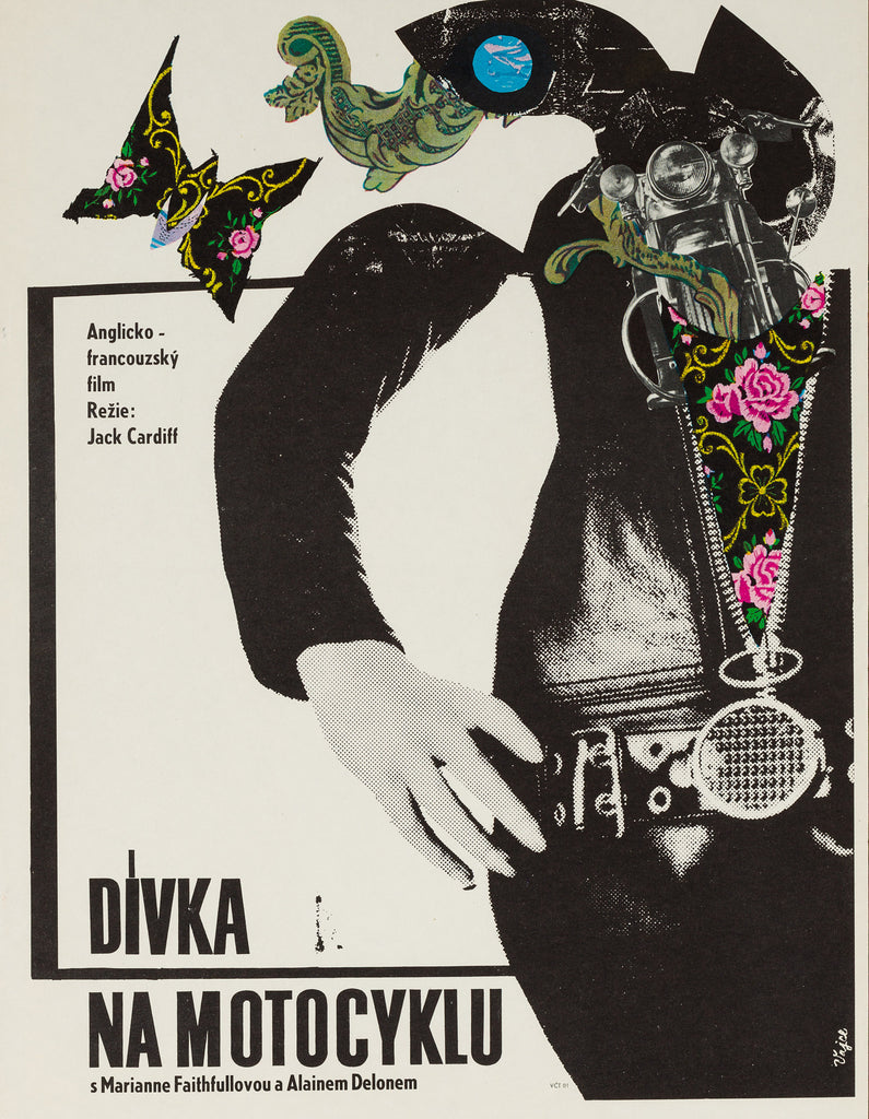The Girl on a Motorcycle 1969 Czech Film Poster