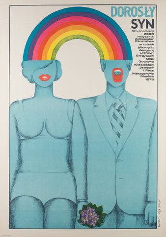 Grown-Up Son Polish 1980 Film Poster, Ihnatowicz