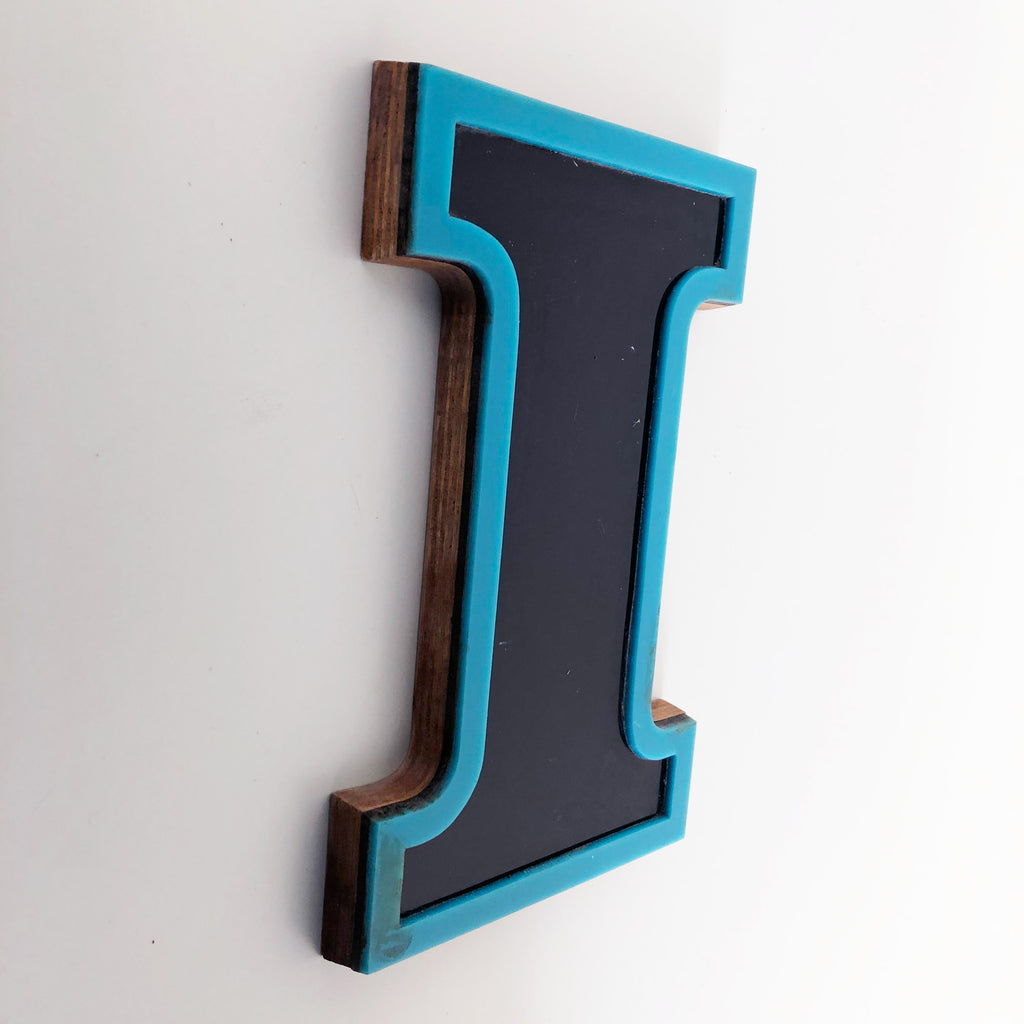 I - Medium Factory Shop Letter Ply Wood & Perspex