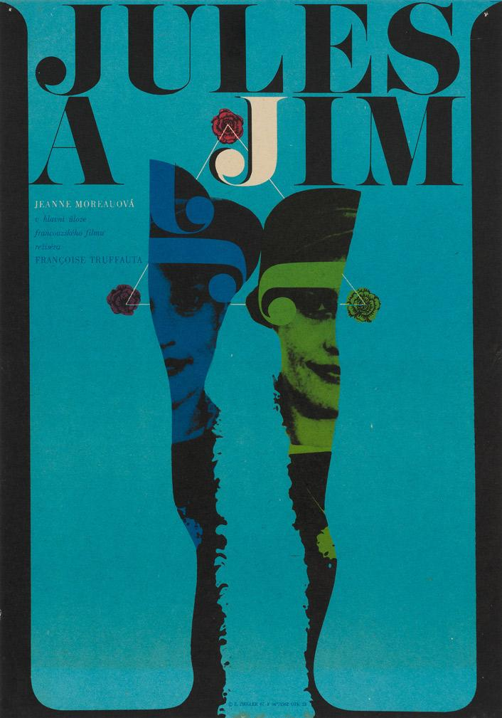 Jules and Jim 1967 Czech Film Poster
