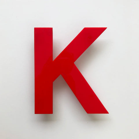 K - Medium Red Cinema Letter Type1