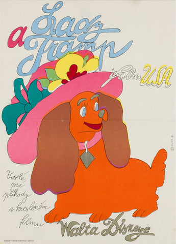 Lady and the Tramp 1974 Czech Film Poster