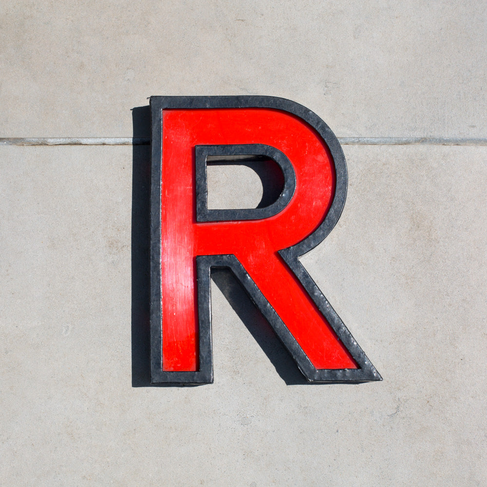 R - Large Cinema Letter