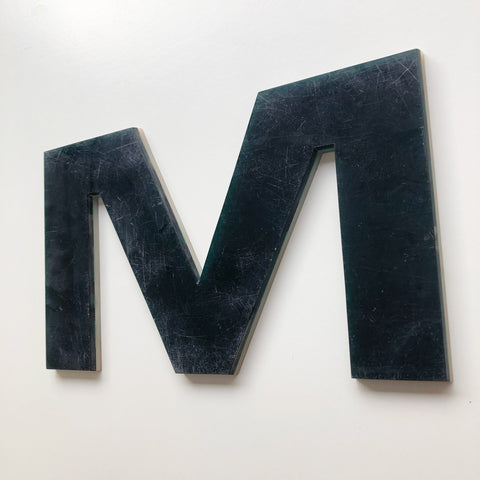 M - Large Letter Solid Perspex