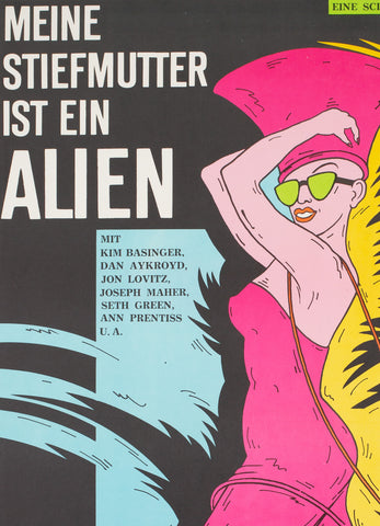 My Stepmother is an Alien 1990 East German Film Poster - detail
