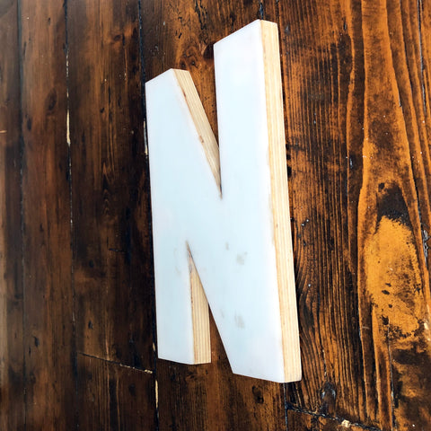 N- Medium Factory Shop Letter Ply Wood & Perspex