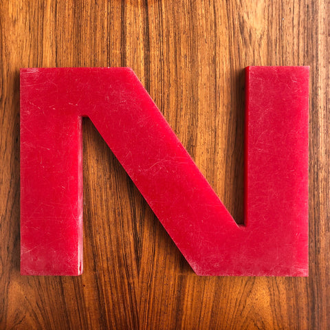 N - Large Letter Solid Perspex