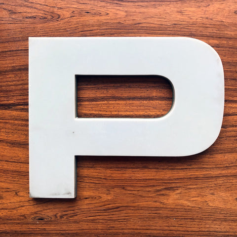 P - Large Letter Solid Perspex