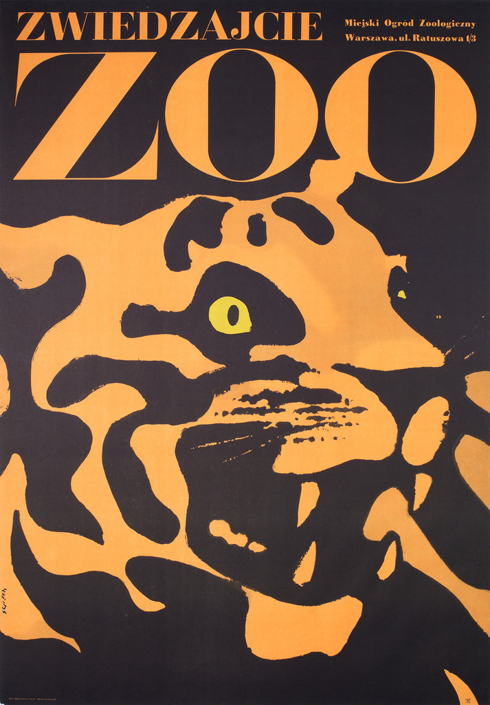 Polish Zoo Poster - Tiger 1967, Swierzy