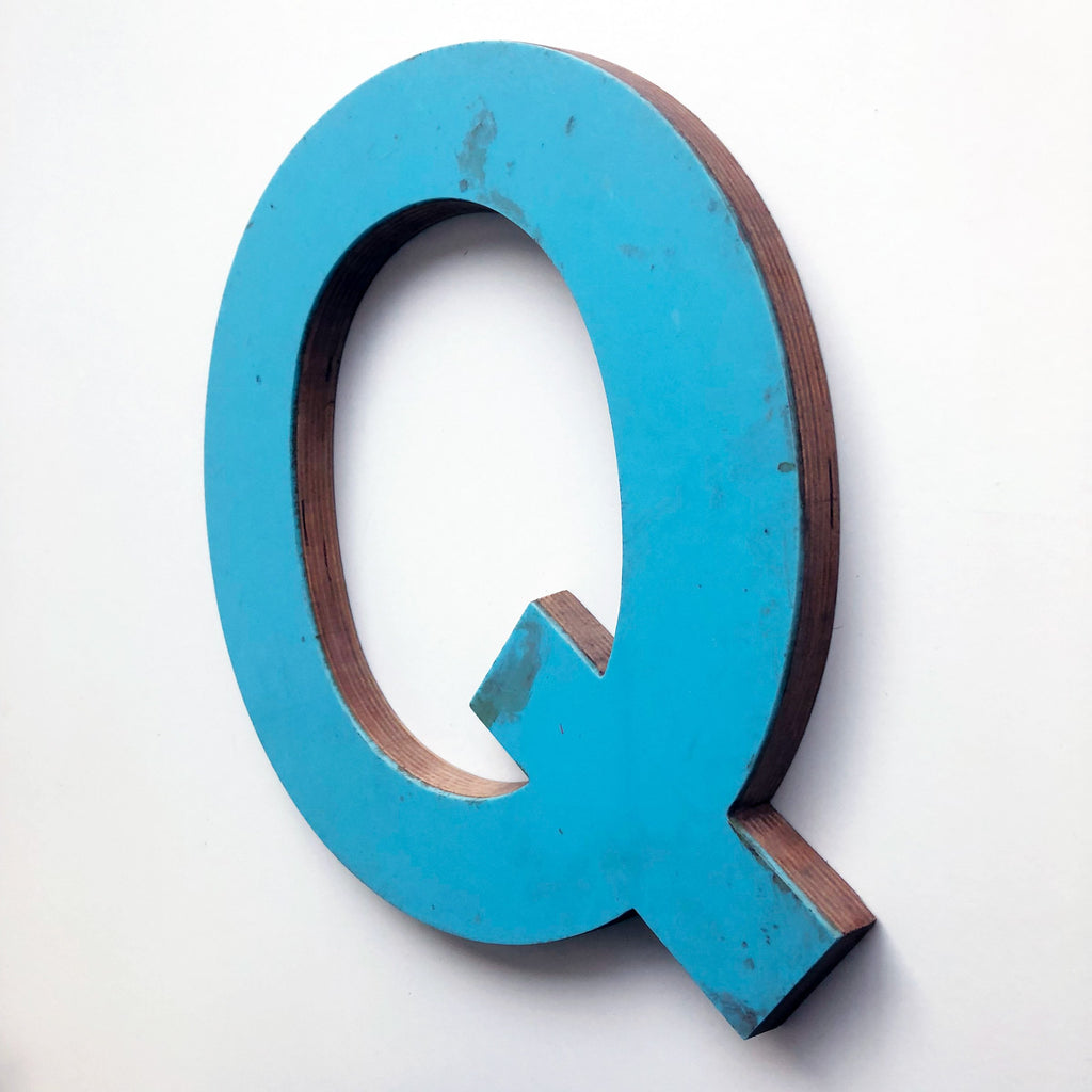 Q - Large Letter Ply and Perspex