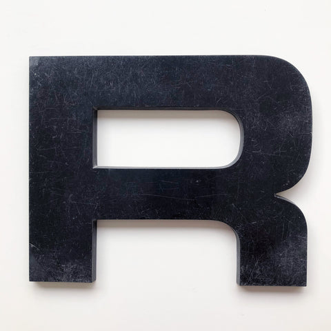 R - Large Letter Solid Perspex
