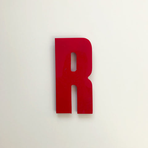 R - Medium Red Cinema Letter Type3