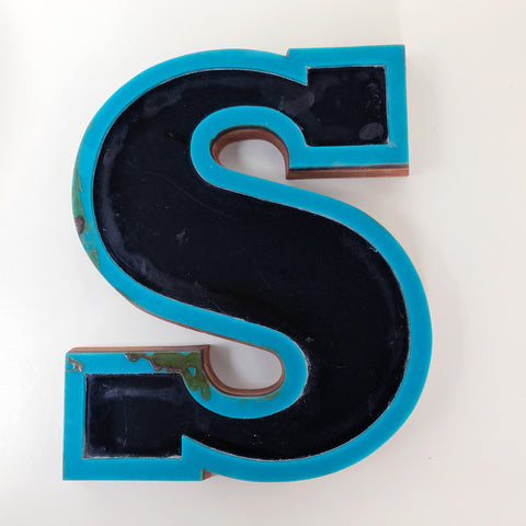 S - Medium Factory Shop Letter Ply Wood & Perspex