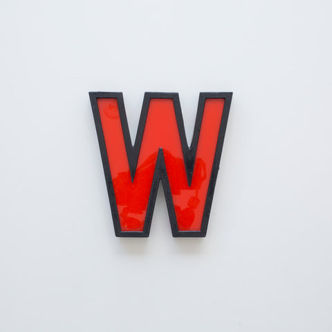 W - Medium Cinema Letter