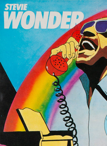 Stevie Wonder I Just Called To Say I Love You 1985 Polish Music Poster, Kalkus - detail