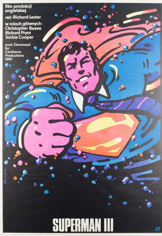 Superman 3 1985 Polish Film Poster