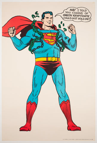 Superman Vintage 1966 US Poster