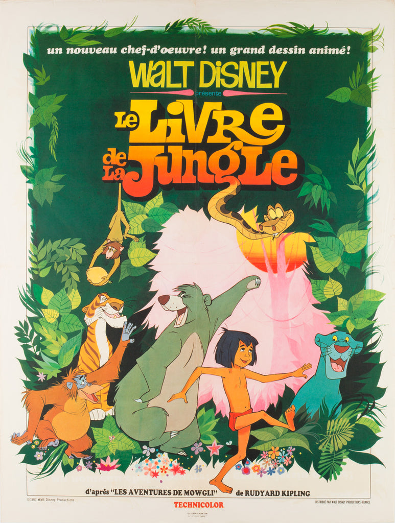 The Jungle Book 1968 French Film Poster