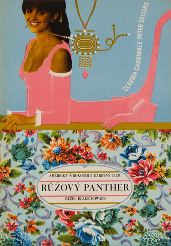 The Pink Panther 1966 Czech Film Poster