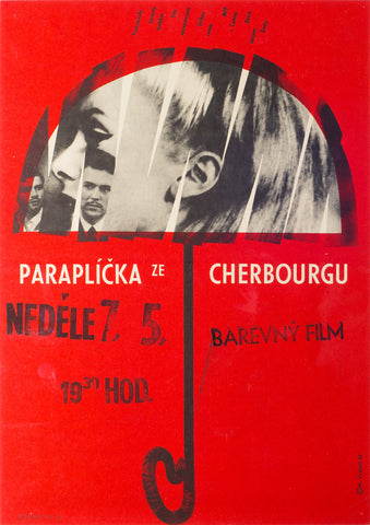 The Umbrellas of Cherbourg 1966 Czech Film Poster