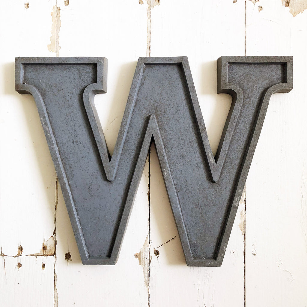 W - Large Letter Metal