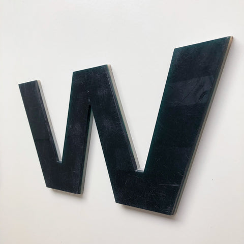 W - Large Letter Solid Perspex