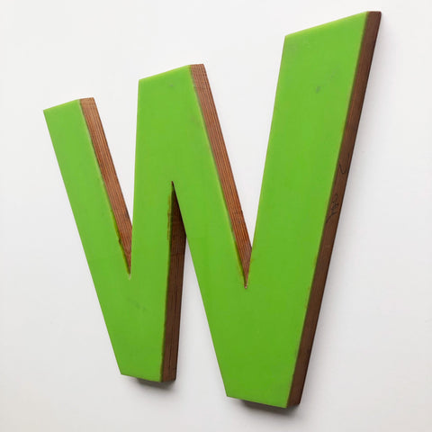 W - Large Letter Ply and Perspex