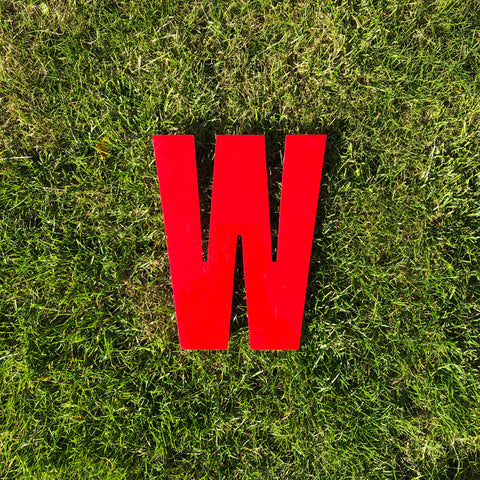 W - Medium Red Cinema Letter Type3