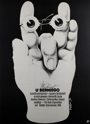 Weekend At Bernie's 1990 Polish Film Poster