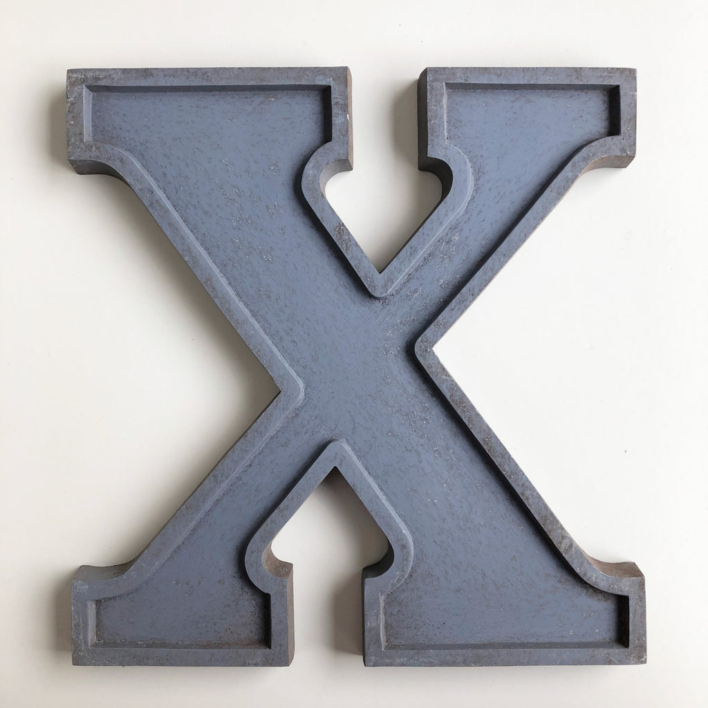 X - Large Letter Metal