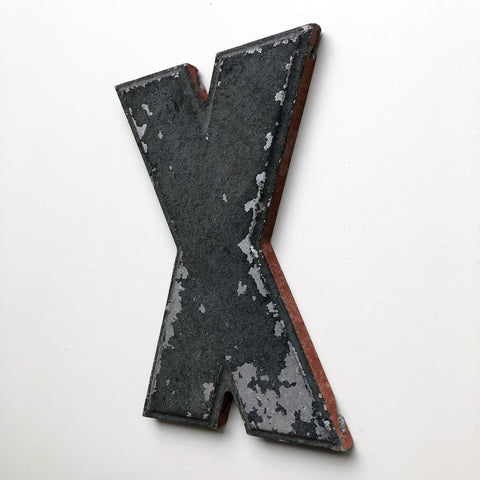 X - 8 Inch American Wagner Cinema Marquee Metal Letter