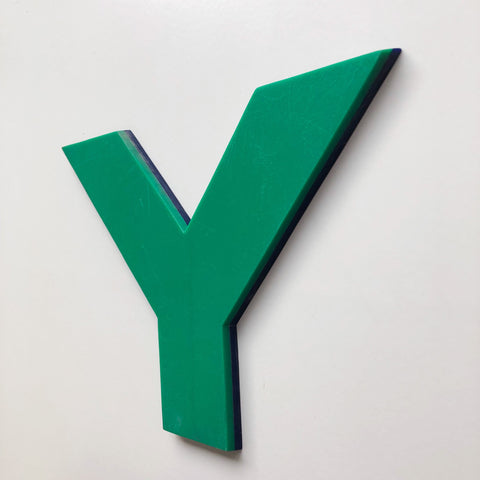 Y - Large Letter Solid Perspex