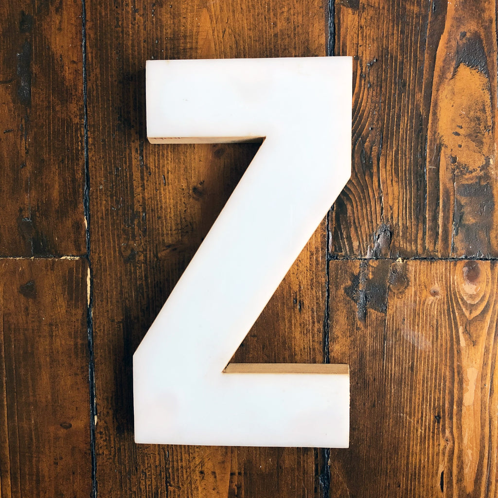 Z - Medium Factory Shop Letter Ply Wood & Perspex