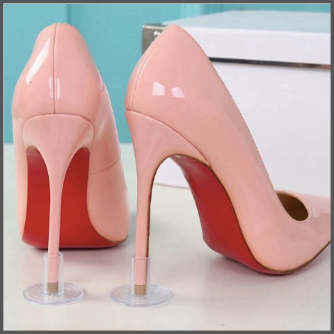 plastic high heel protection that your heel slide into to prevent any damages or sinking in to grass or boardwalk