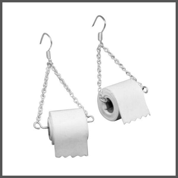 toilet roll earrings