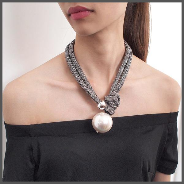 Pearl Rope Necklace - BoHoLuXe.net