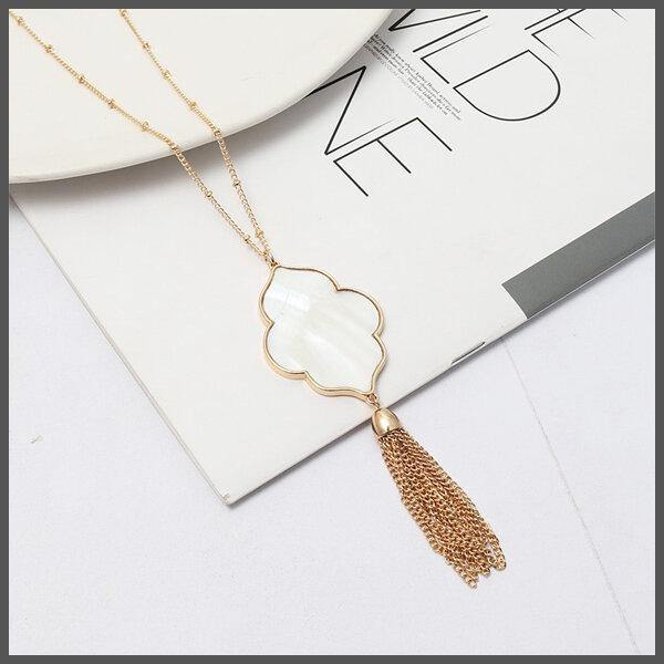 Pearlescent Rain Necklace - BoHoLuXe.net